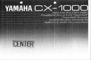 雅马哈CX-1000英文说明书