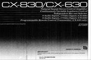 雅马哈CX-630英文说明书