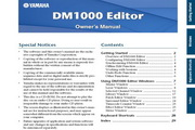 雅马哈DM1000 Editor Owners Manual说明书