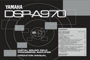 雅马哈DSP-A970英文说明书