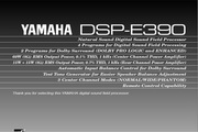 雅马哈DSP-E390英文说明书