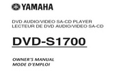 雅马哈DVD-S1700英文说明书