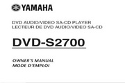雅马哈DVD-S2700英文说明书