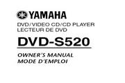 雅马哈DVD-S520英文说明书