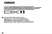 雅马哈DX11英文说明书