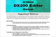雅马哈DX200 Editor英文说明书