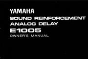 雅马哈E1005英文说明书