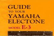 雅马哈E-3英文说明书