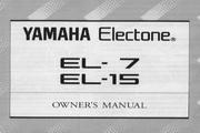 雅马哈EL-15英文说明书