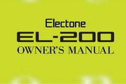 雅马哈EL-200英文说明书