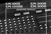 雅马哈EM-100II英文说明书