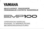 雅马哈EMP100英文说明书