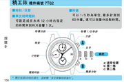 精工SEIKO 7T62表说明书