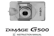 柯尼卡美能达 DiMAGE G500数码相机说明书