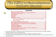 雅马哈File Utility英文说明书