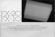 雅马哈FX-20英文说明书