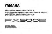 雅马哈FX500B英文说明书