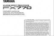 雅马哈FX770英文说明书