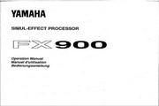 雅马哈FX900英文说明书