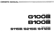 雅马哈G100III英文说明书