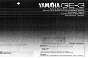 雅马哈GE-3英文说明书