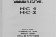 雅马哈HC-4英文说明书