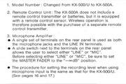 雅马哈KX-500A英文说明书