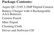 Argus QC3195数码相机说明书