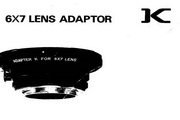 宾得6x7 Grip AF400T6x7 Lens Adapter 说明书