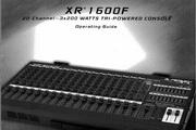 百威XR 1600F说明书