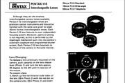 宾得110 Interchangeable Lenses数码相机英文说明书