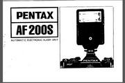 宾得AF200S Flash 数码相机英文说明书