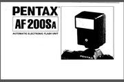 宾得AF200Sa Flash数码相机英文说明书