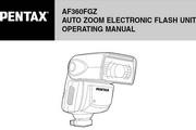宾得AF-360FGZ Flash 数码相机英文说明书