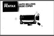 宾得Auto Bellows Slide Copier数码相机英文说明书