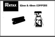 宾得Copipods 52mm & 49mm 数码相机英文说明书