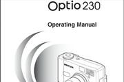 宾得Optio 230照相机英文说明书