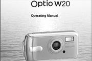 宾得Optio W20相机英文说明书