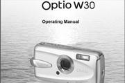 宾得Optio W30 Manual相机英文说明书