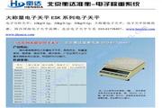 衡达ES50K-15电子天平使用说明书