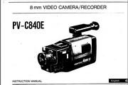 宾得PV-C840E摄相机英文说明书