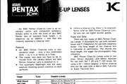 宾得SMC Close-up Lenses相机英文说明书