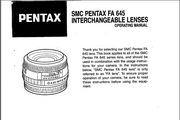 宾得SMC FA 645 Lenses相机英文说明书
