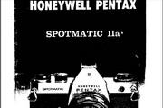 宾得Spotmatic 1ia 相机英文说明书