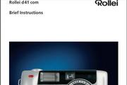 Rollei d41com_QSG数码相机英文说明书