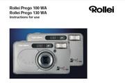 Rollei Prego 130 WA数码相机英文说明书