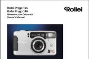 Rollei Prego 140数码相机英文说明书