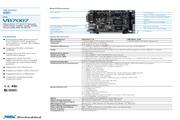 威盛 VB7007嵌入式主板 英文说明书