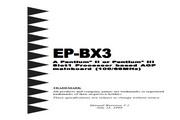 磐正 EP-BX3型主板 英文说明书