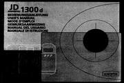 JENOPTIK JD 1300 d数码相机说明书